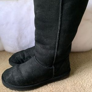 UGG Black Suede Tall Boots Size 9